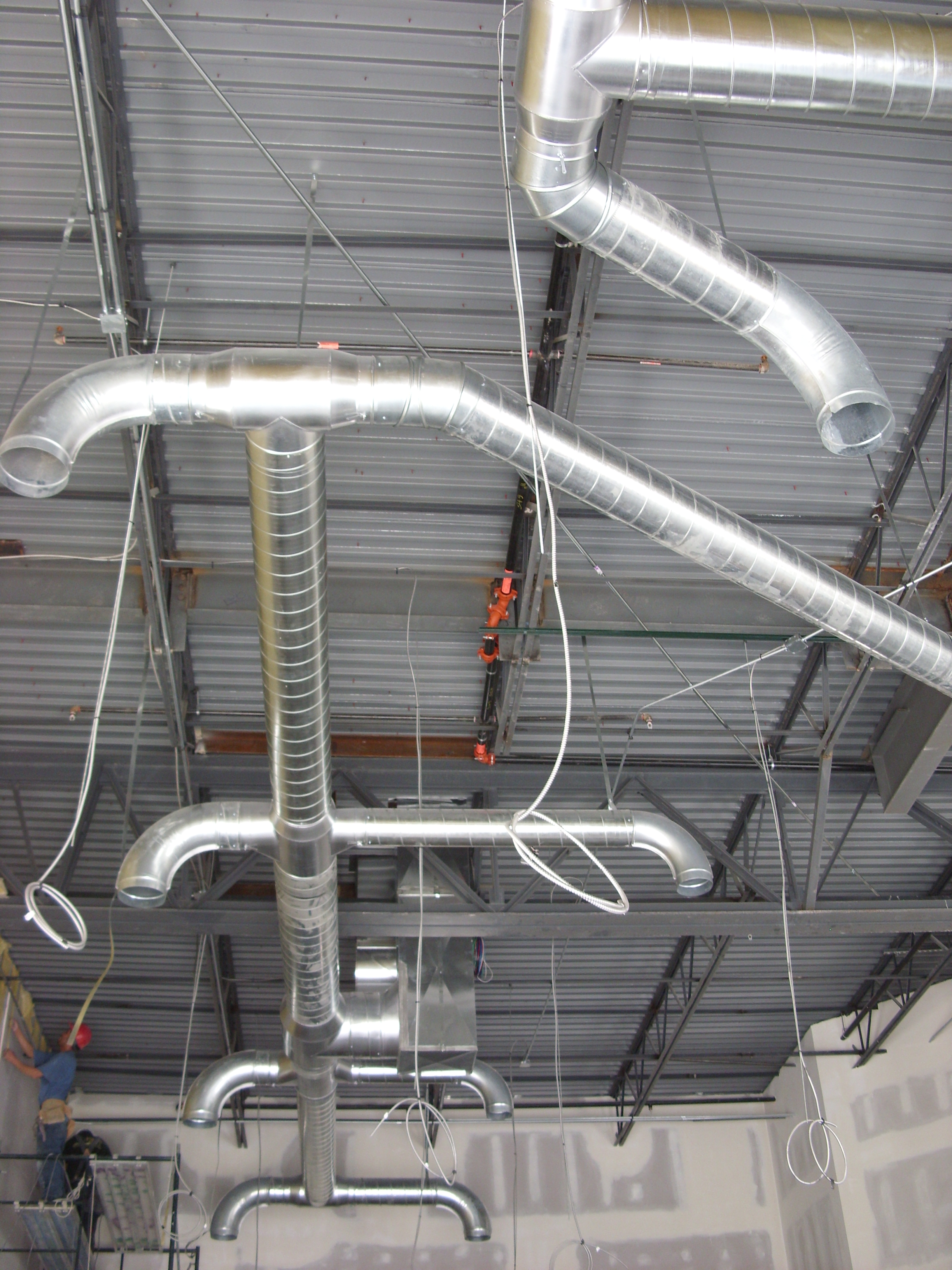 Exposed Spiral Duct : Exclusive air systems